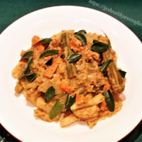 Avial - Boiled vegetables in coconut gravy