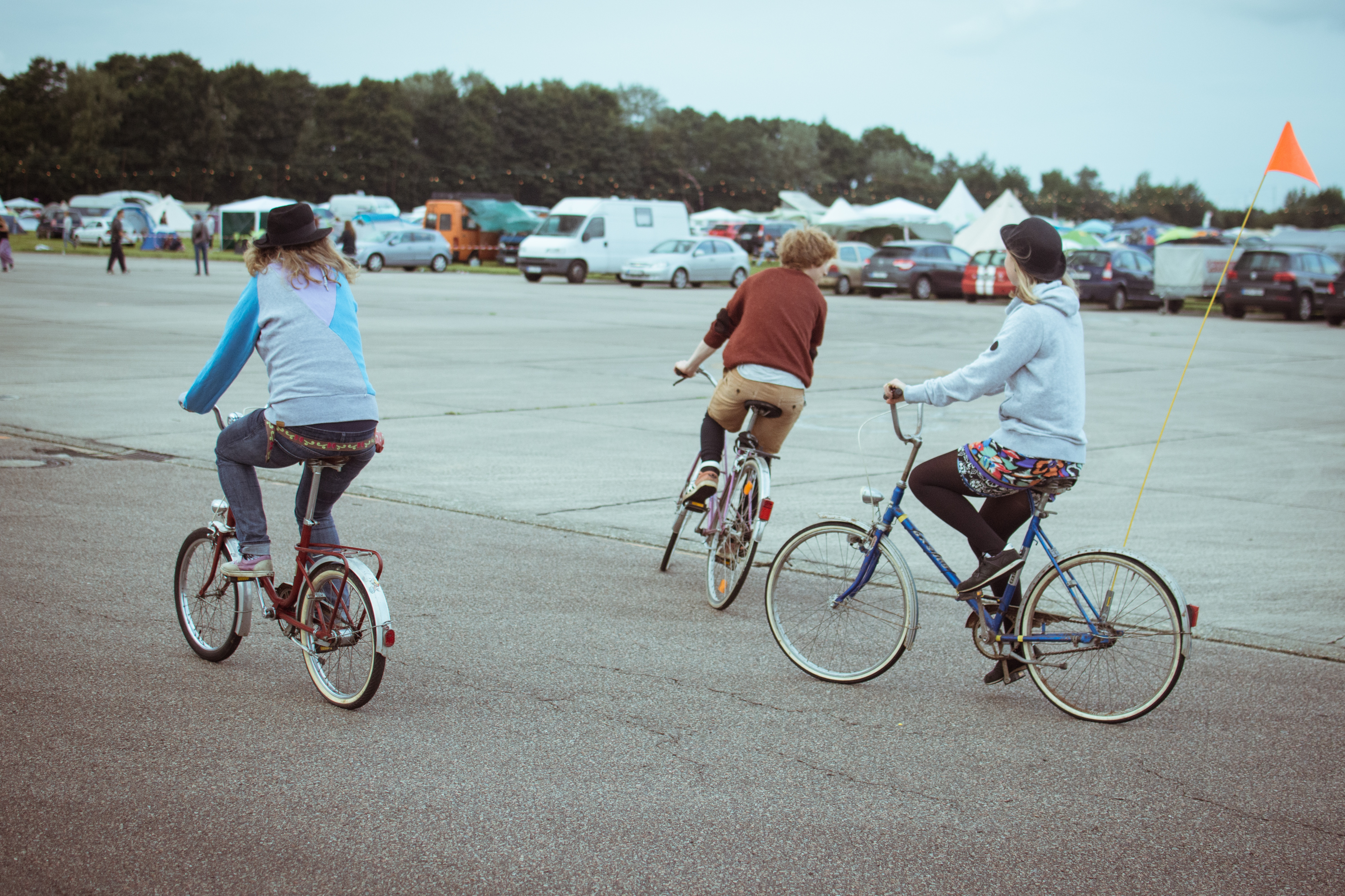 image of 3 people cycling