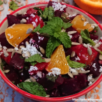 Beet orange salad with coconut