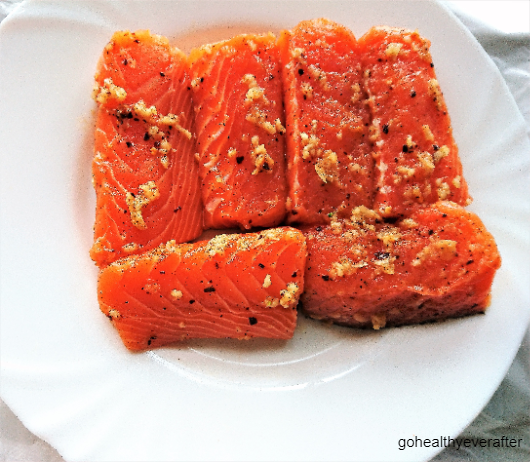 6 fillets of marinated orange butter salmon