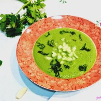 Chilled cucumber herb soup