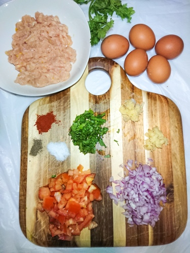 Ingredients for chicken deviled eggs